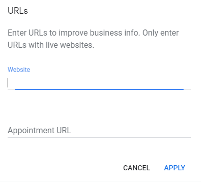 Google MyBusiness Book Appointment Button